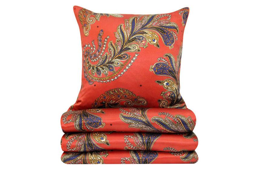 Декоративная подушка и покрывало Parure Ivoire, Yves Delorme