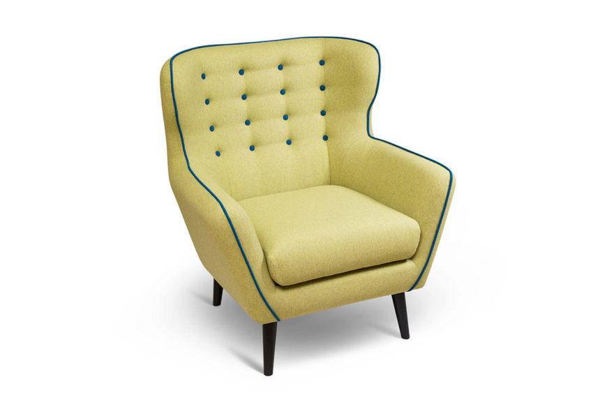 Кресло МЭДЖИК, производство VYSOTKA home. Интерпретация в итальянской шерсти для квартиры Юлии Меньшовой.