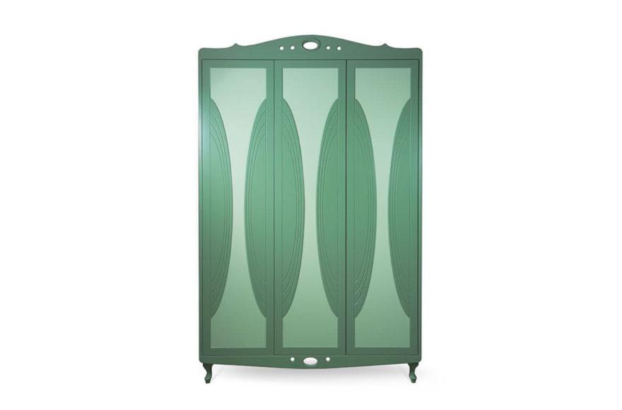 Шкаф для детской спальни, производство VYSOTKA home. Дизайнеры Мария Мельничук и Юлия Меньшова. Для квартиры Юлии Меньшовой.