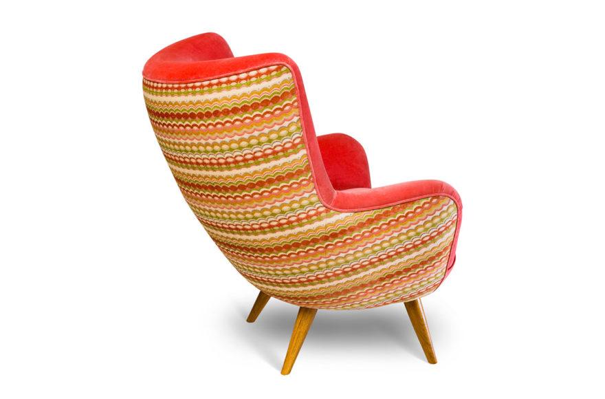 Кресло, дизайнер Carlo Mollino, 1952 г., производство VYSOTKA home. Интерпретация для квартиры Юлии Меньшовой.