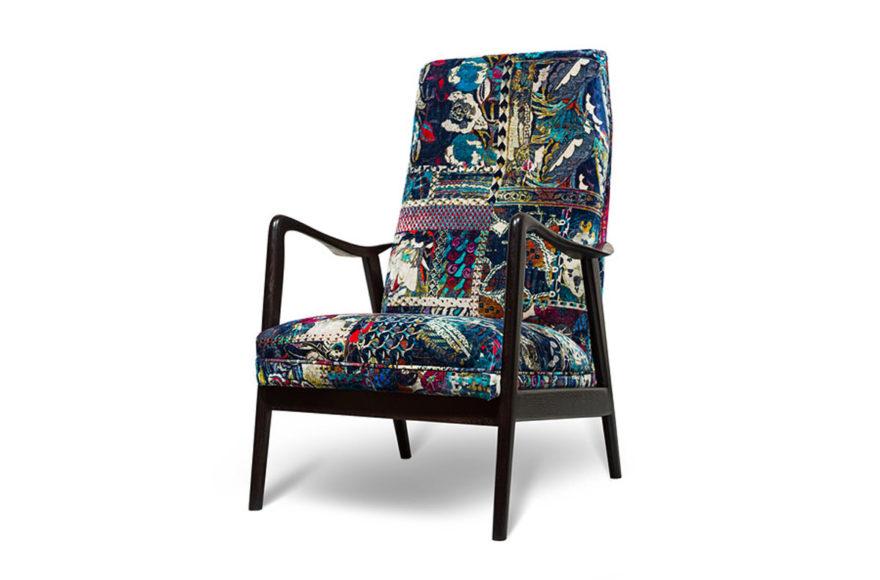 Кресло, дизайнер Folke Ohlsson, 1950-е годы, производство VYSOTKA home. Интерпретация для частного дома.